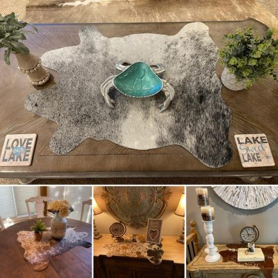 COWHIDE TABLE TOPPERS